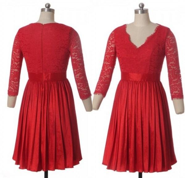 robe-rouge-courte-en-dentelle-décolleté-v-à-manches-2016.jpeg.jpeg